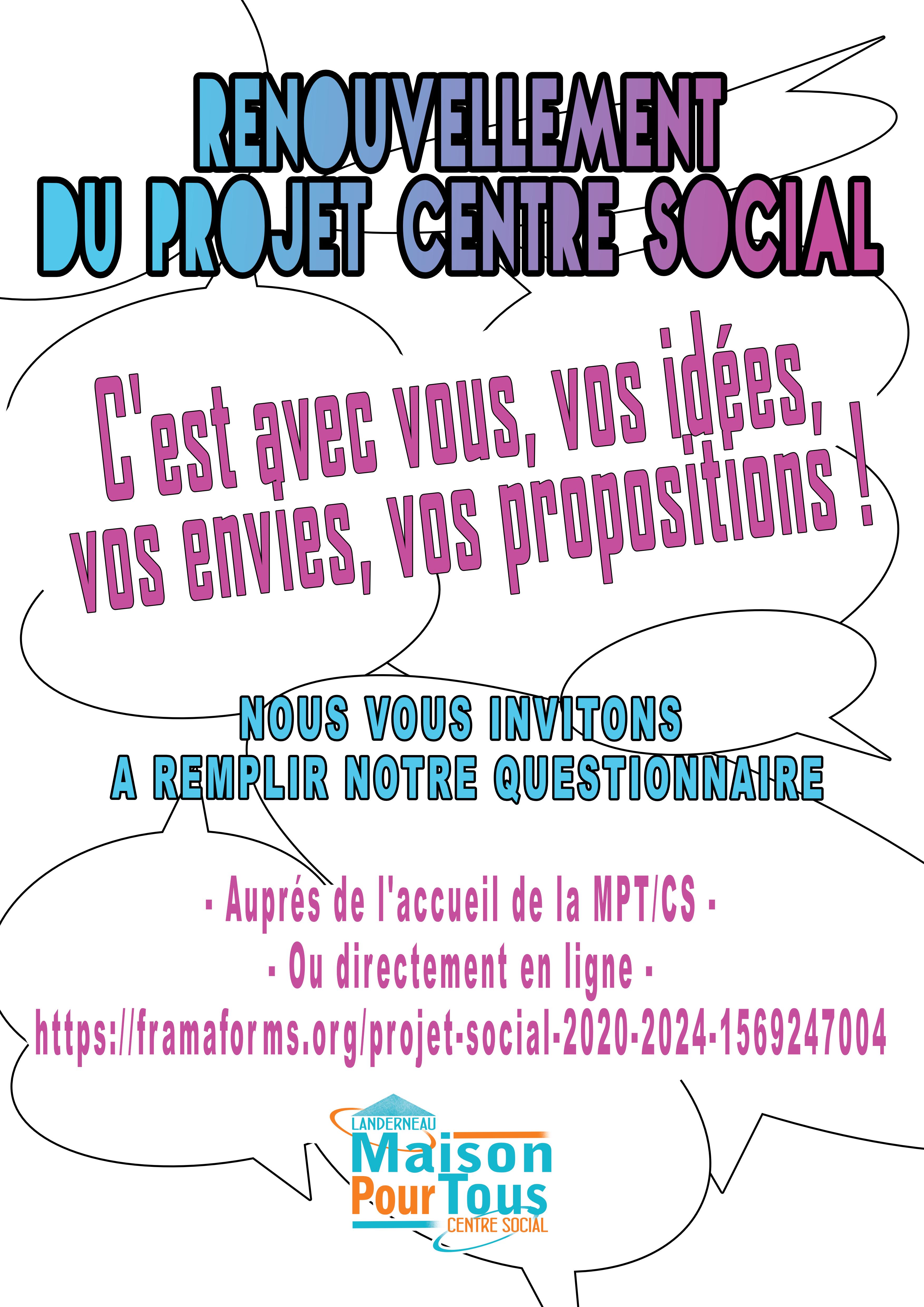 Questionnaire Projet Centre Social !